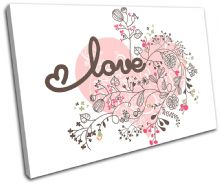 Heart Abstract Floral Love - 13-1880(00B)-SG32-LO